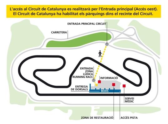 cursa racc 2012, circuit
