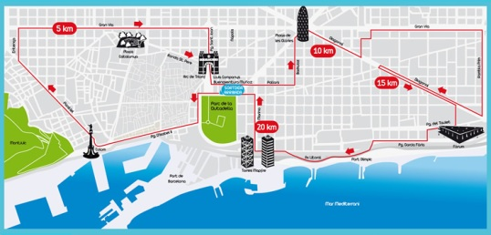 cursa ½ maraton 2013, recorregut