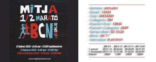 cursa ½ maraton 2013, taza