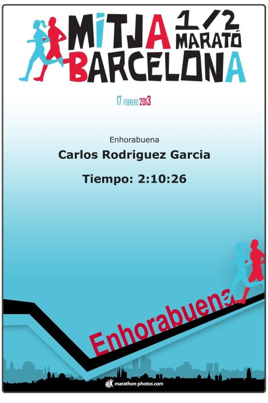 cursa ½ maraton, certificado