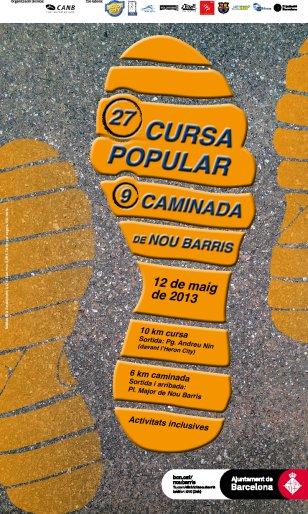 cursa nou barris 2013, poster